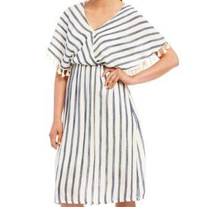 Gibson & Latimer Striped Midi Dress XL